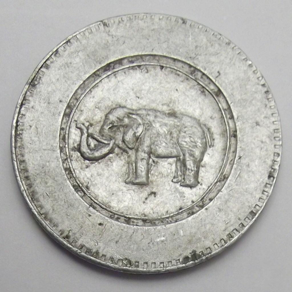 Jeton Porte Bonheur. Éléphant et trèfle. Cruz18