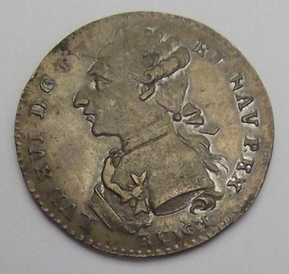 Jeton Louis XVI, OMNIBUS NON SIBI. Feuardent. Cruz20