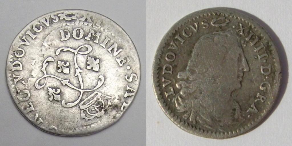 Pièce d'argent Louis XIV. Double frappe Rare Combien çà coute? Girada11