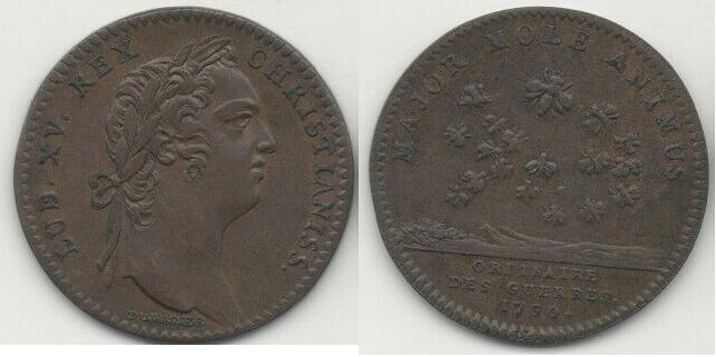 """Jeton Louis XV """"MAJOR MOLE ANIMUS"""" Imagen10"""