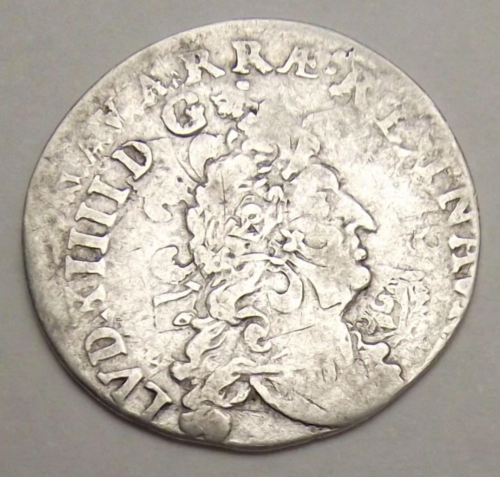 Pièce d'argent Louis XIV. Double frappe Rare Combien çà coute? Quadru10
