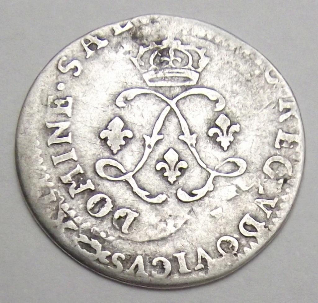 Pièce d'argent Louis XIV. Double frappe Rare Combien çà coute? Quadru11