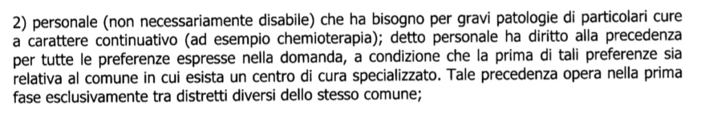 Mobilità e precedenza Legge 104 art. 21  Scherm11