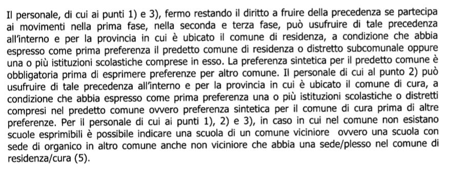 Mobilità e precedenza Legge 104 art. 21  Scherm13