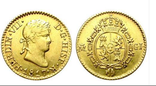 1/2 Escudo 1867. Fernando VII. Madrid  1-2_es11