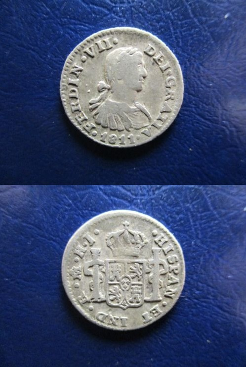 1/2 Real Mexico 1811 Fernando VII 1-2_re10