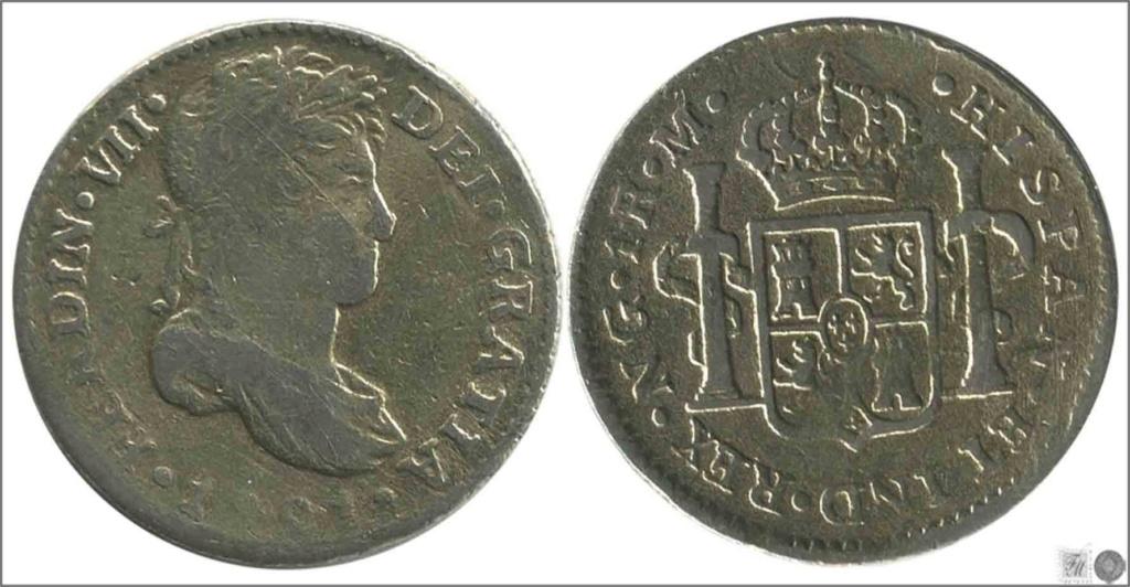 1 Real 1821. Fernando VII Guatemala  1realg10
