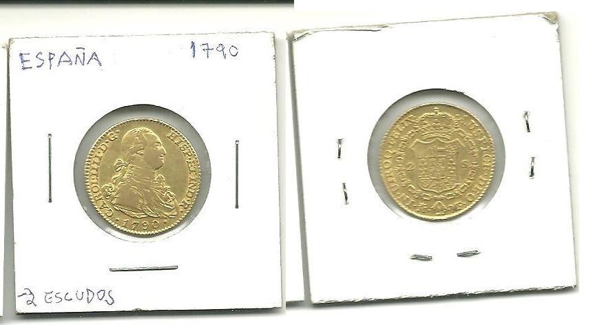 2 Escudos 1790 Carlos IV. Madrid  2_escu10