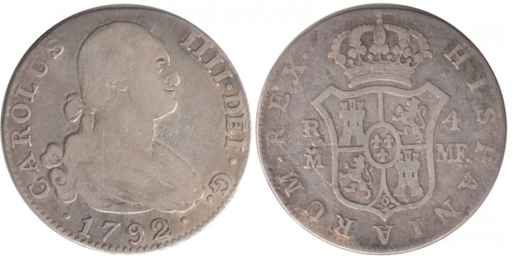 4 Reales 1792 Carlos IV. Madrid 4_real10