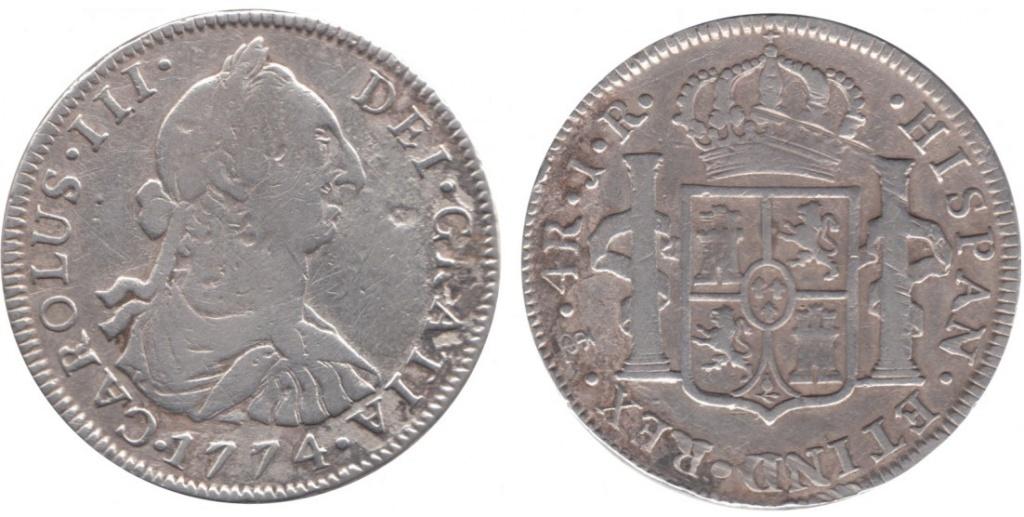 4 Reales 1774 Carlos III Potosí  4_real13