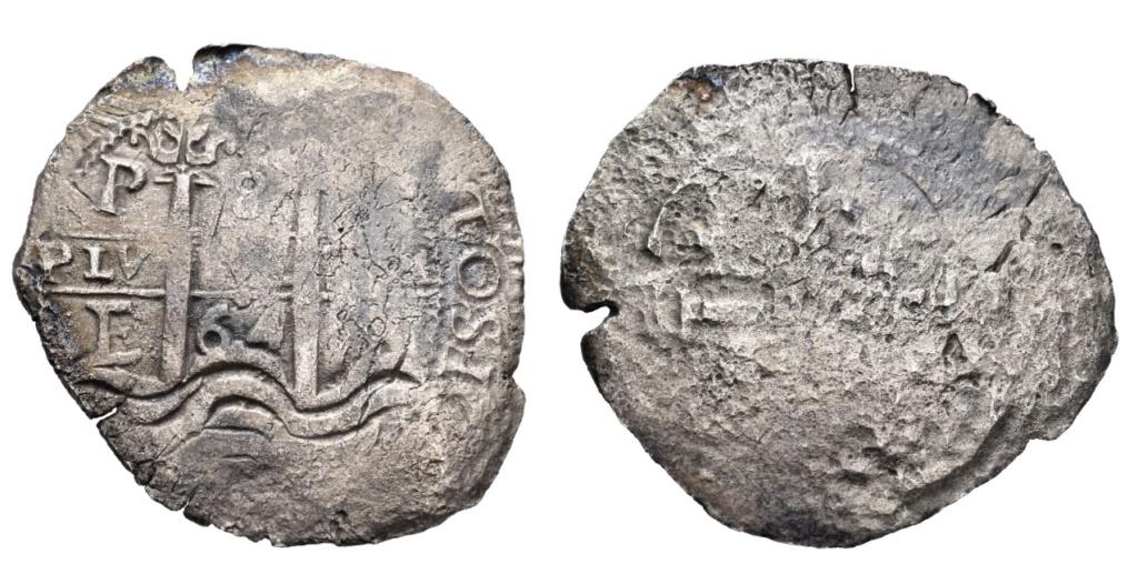 8 Reales Potosi 1664 Felipe IV 8reale10
