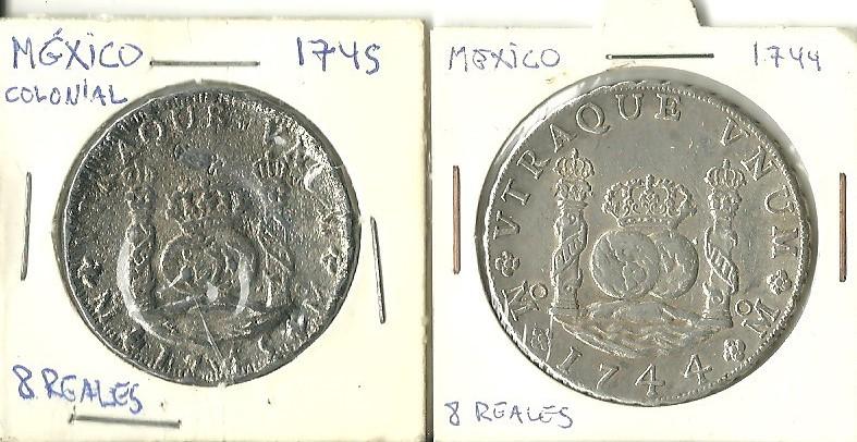 """2 reales """"columnarios"""", auténticos? 8reale11"""