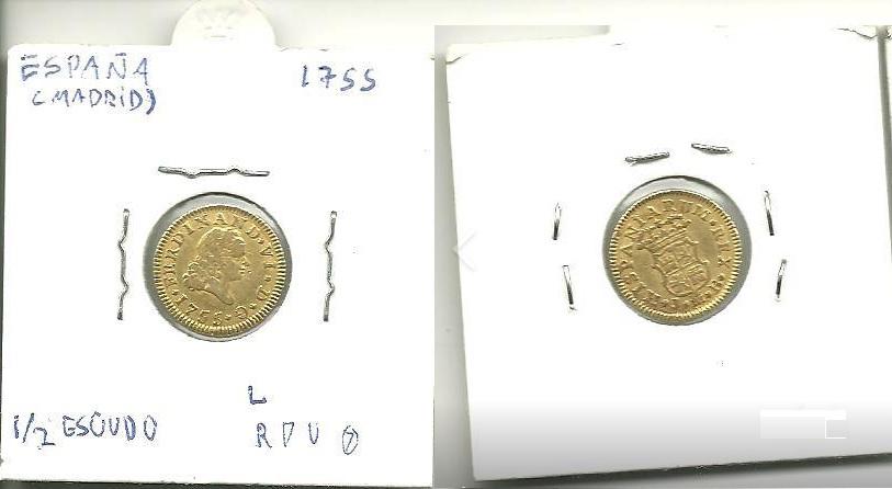 Fernando VI 1/2 Escudo 1755 Madrid Fernan10