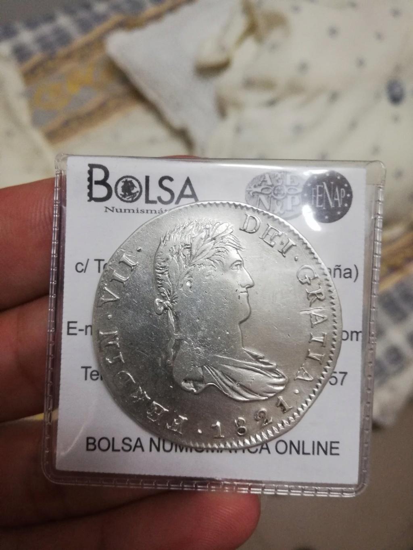 8 Reales 1821 Fernando VII Zacatecas Jlvhqc10