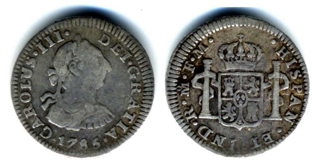 1/2 Real Carlos III 1785 Ceca de México Medio_10