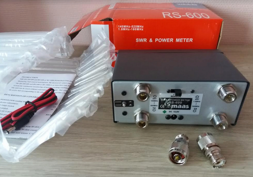 ( VENDUE )SWR & POWER METER - MAAS RS 600 , NEUF !! Maas_10