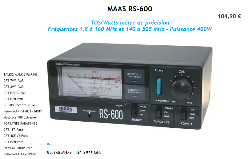tos-metre , watt-metre , matcher 26-28 mhz , lemm tr1000  Maas_610