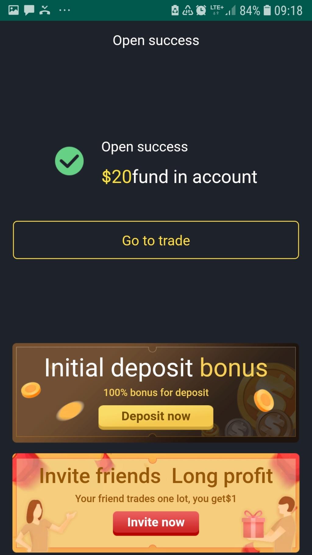Darmowe 20 USD od giełdy ALIBABA Screen44