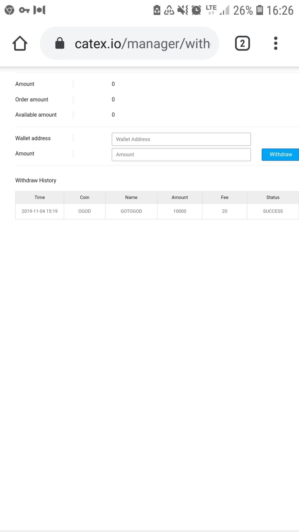 Catex.io 250 USD Screen47