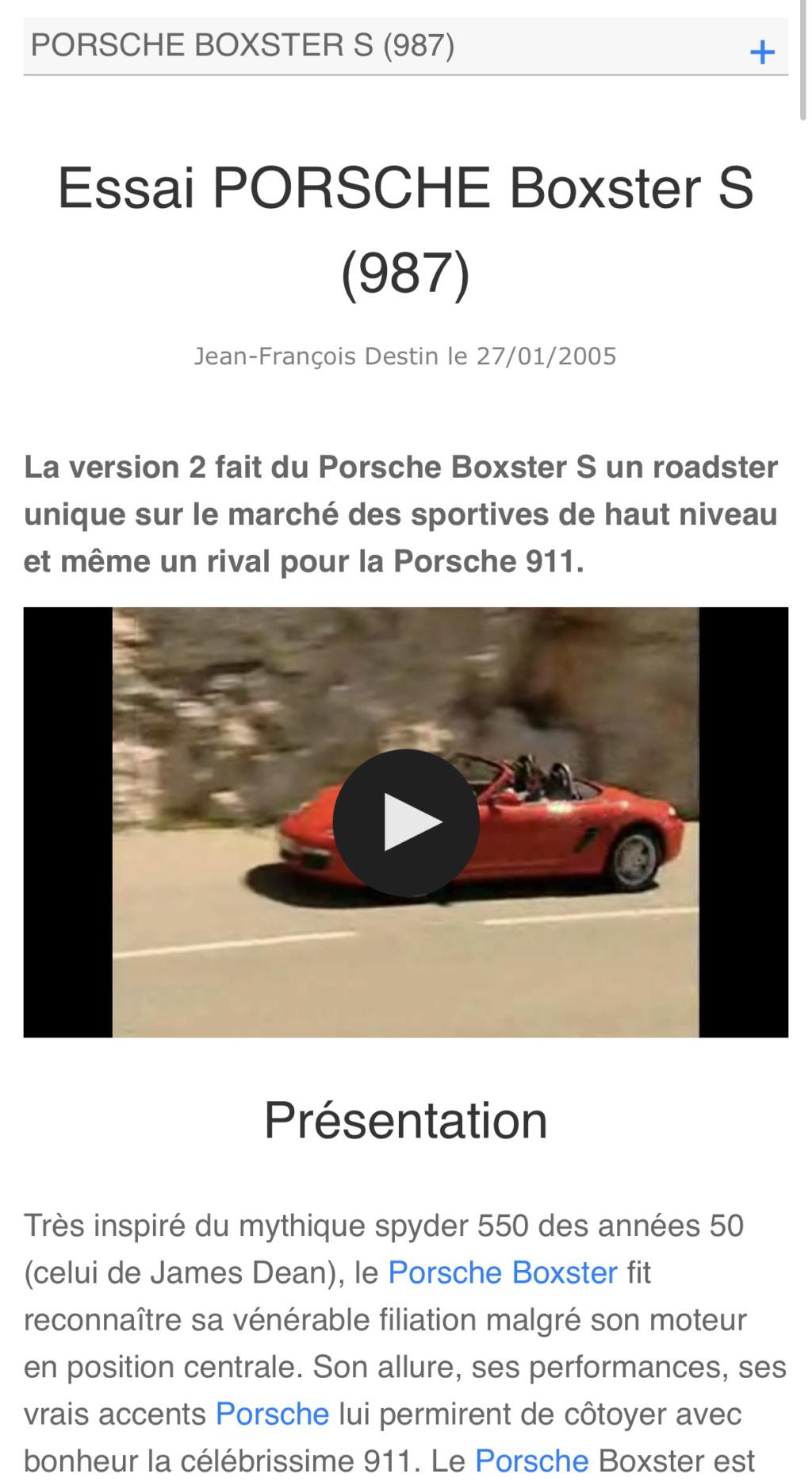 Boxster S 987 03/2005 RHD superbe condition 13900€ 2ce04910