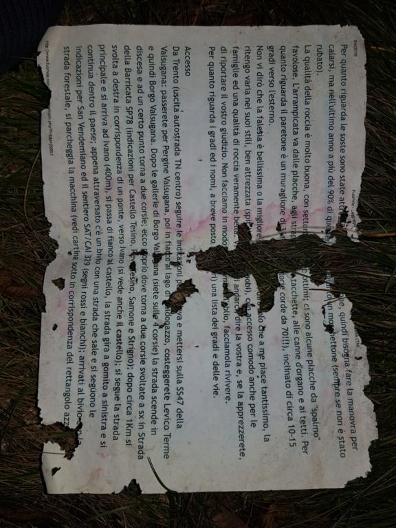 Ritrovamento in falesia Monte Lefre della guida di Jackey e AleVlagn (FuoriVia anno 2011) 20191115
