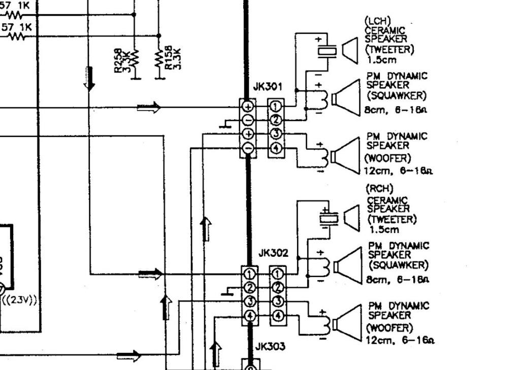 Recupero diffusori  Panasonic RX-DT690 Schema10