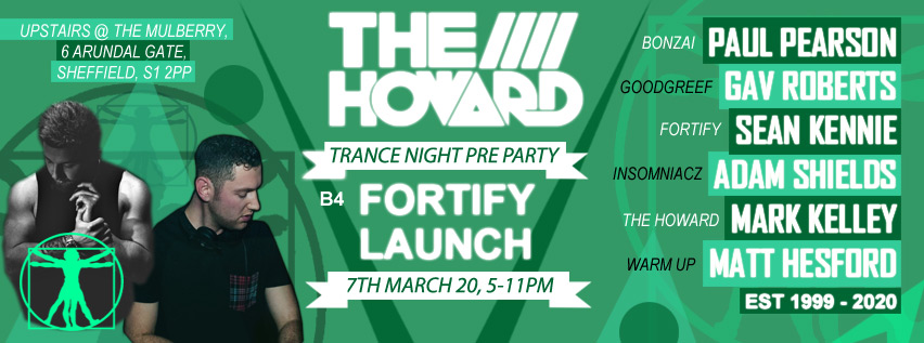 The Howard Trance Night Pre Party B4  Fortify 7/3/20 The-ho11