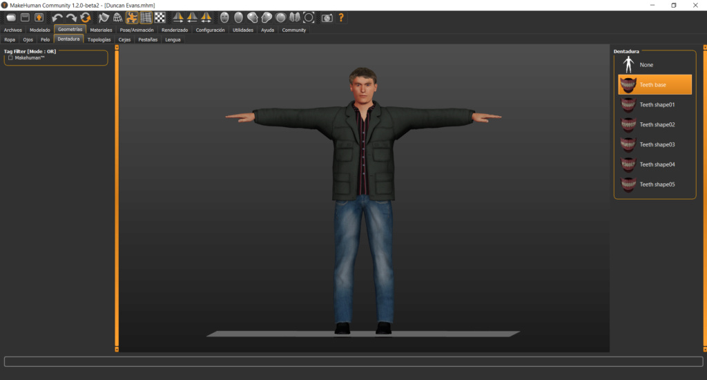 MAKEHUMAN - Programa libre para crear modelos de personajes en 3d Screen21