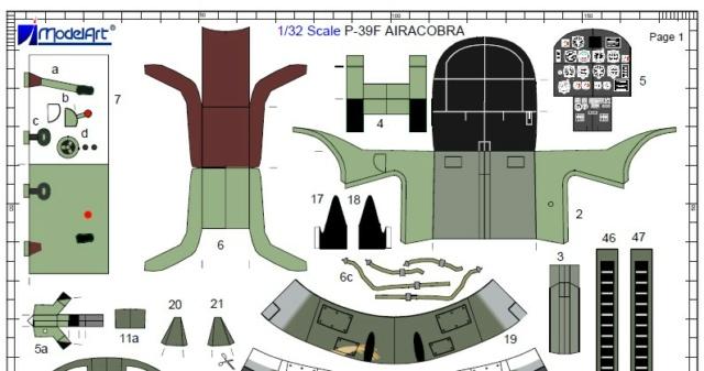 Bell P-39 Airacobra / ModelArt, 1:32 Teile_10