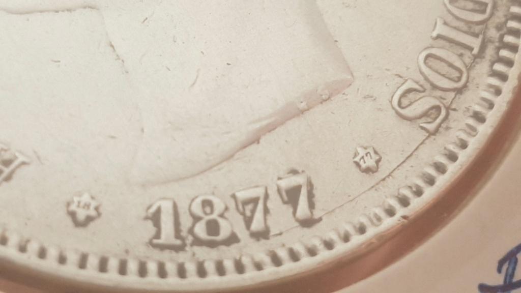5 pesetas Alfonso XII 1877 *18-*77 DEM 2020-912