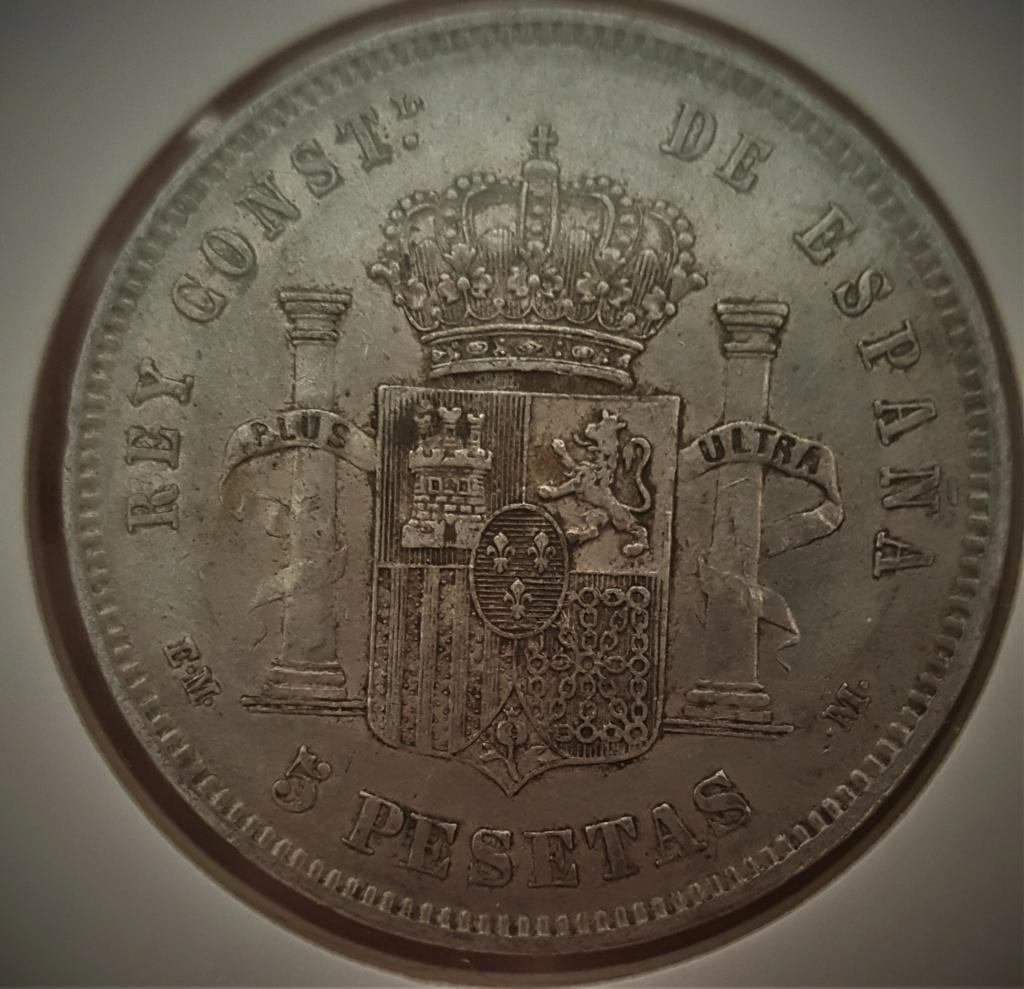 5 pesetas Alfonso XII 1879 *18-*79 EMM 20200921