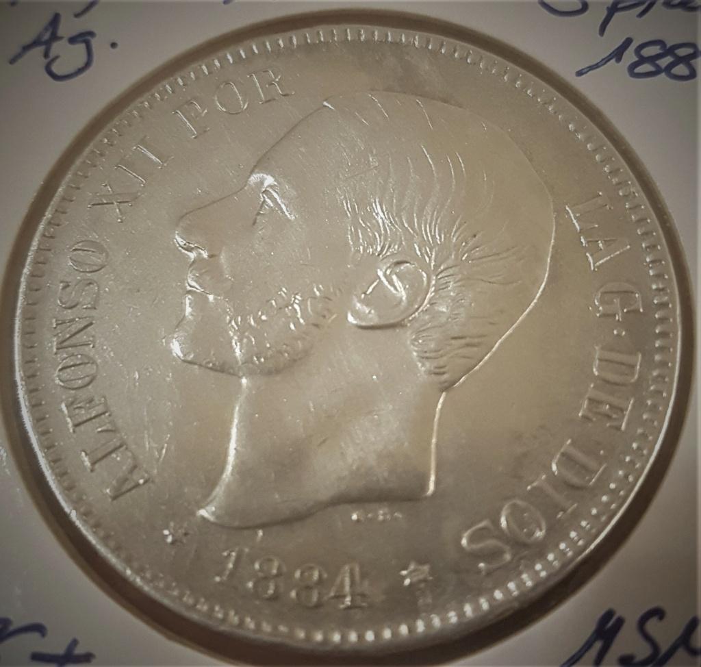 5 pesetas Alfonso XII 1884 *18-*84 MSM 20200928