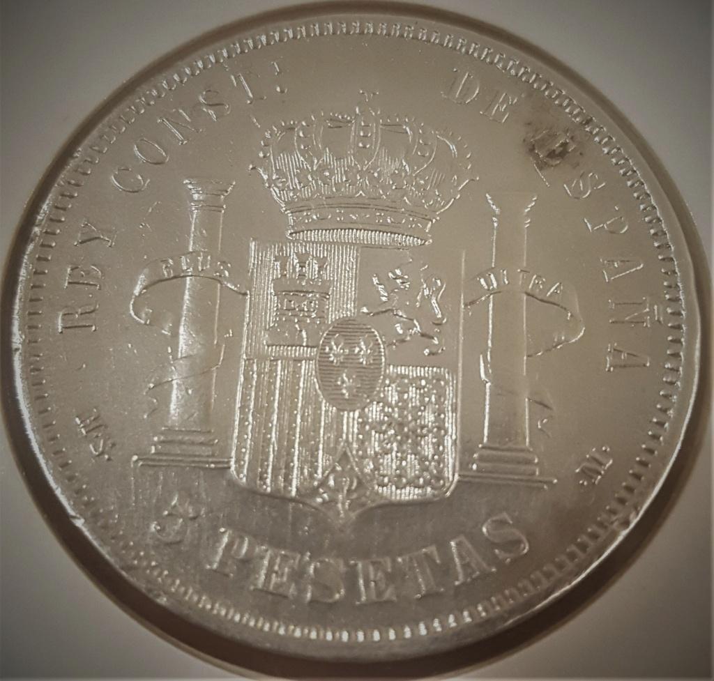 5 pesetas Alfonso XII 1884 *18-*84 MSM 20200929