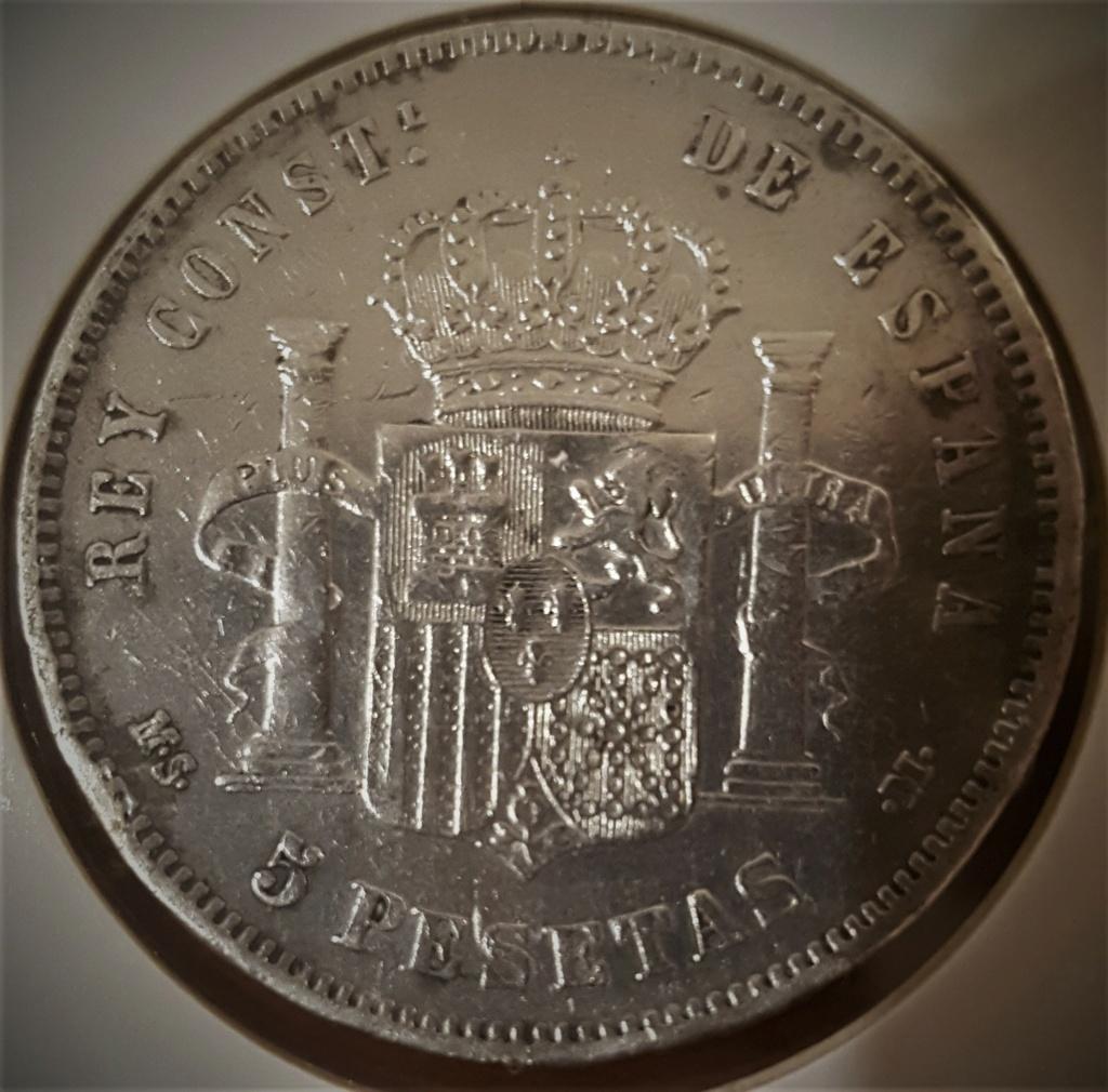 5 pesetas Alfonso XII 1885 *18-*87 MSM 20200938