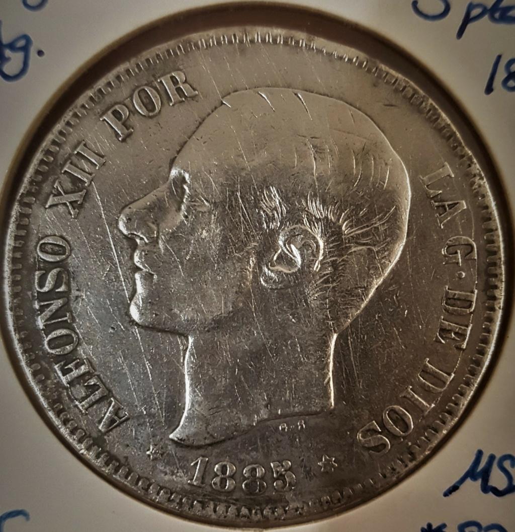 5 pesetas Alfonso XII 1885 *18-*87 MSM 20200939