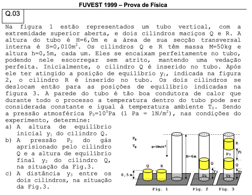 FUVEST 1999 - Gases e transformações Captur52