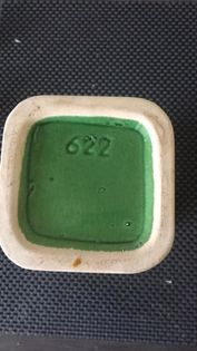 Charity Request, green chalice or pedestal bowl number 622 Pot210