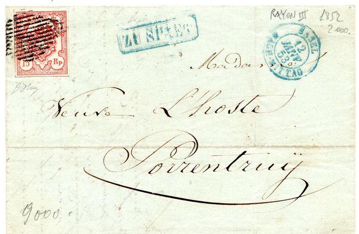 Schweiz 1852 - Rayon III Brief 906d1910
