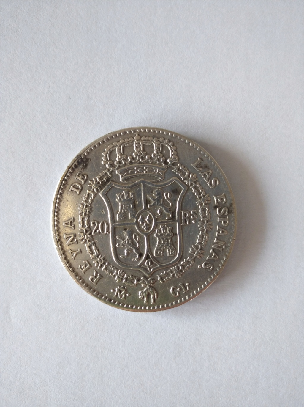 20 reales 1837 16211815