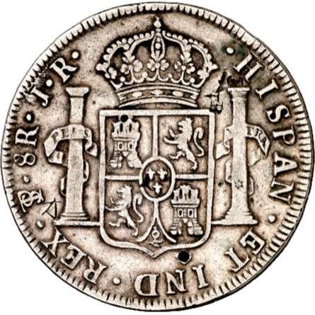 8 reales de Carlos III de 1874 ensayador JR en la ceca del Potosí  Descar10