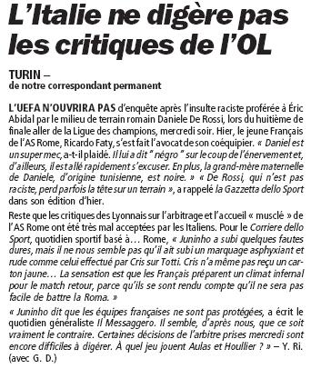 Lyon et l'ol.... Critiq10