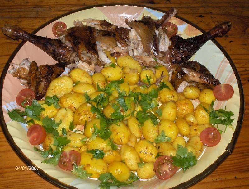 Poulet aux pommes de terre pimenté + photo Hpim0110