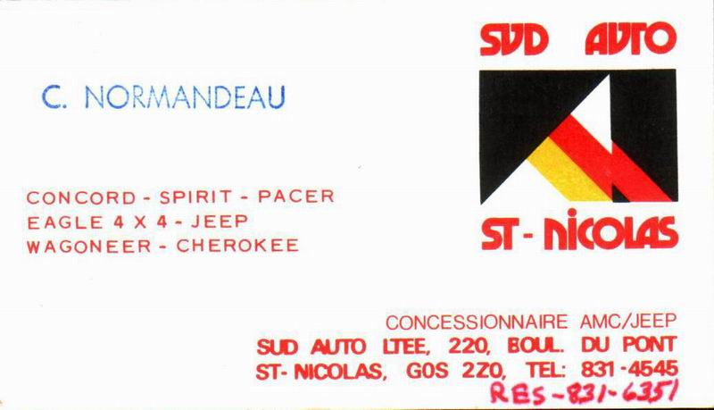 Les anciens dealers AMC du Québec Sud_au10