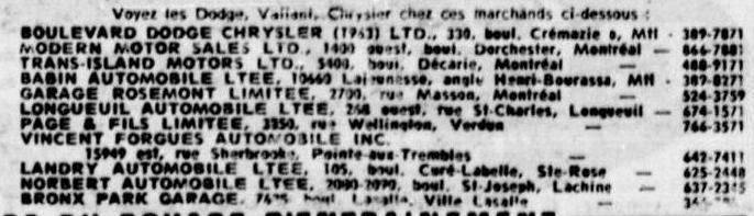 Les anciens dealers Mopar du Québec 1965_l11