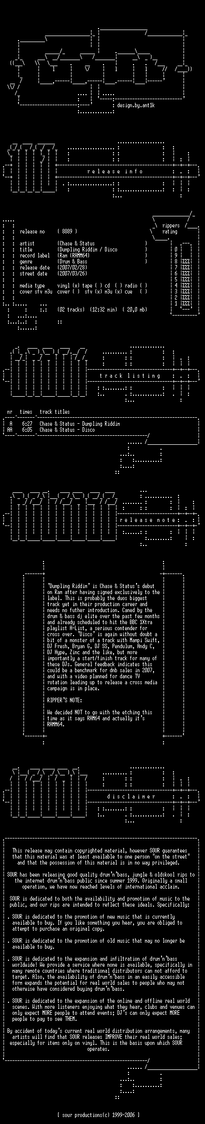 [DnB] Chase & Status - RAMM64 - Ramm Rec. Ramm6410