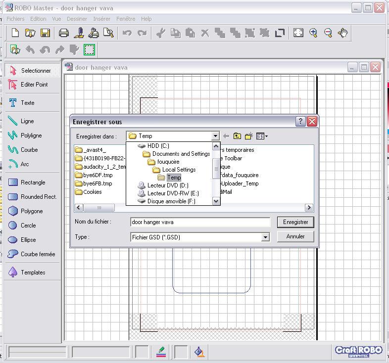question pour enregistrer les fichiers gsd Image311