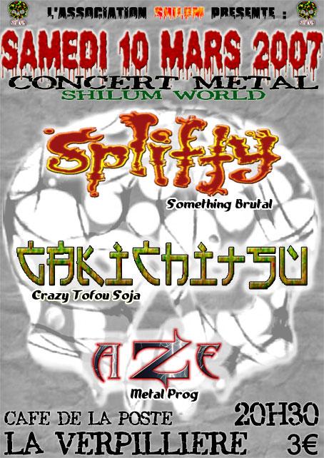 Les concerts de Spliffy en Mars Affich11