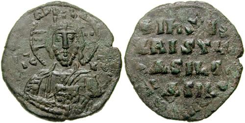 Follis bizantino de Juan I TZIMISCES (969-976) Basi10