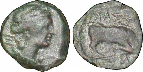 Bronce de Massalia (r: toro, Galia) Hemiob10