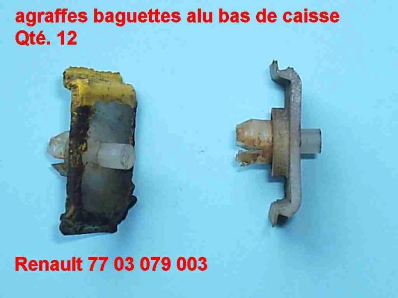 agrafes de moulures de bas de caisse R17 1972 Agrafe10